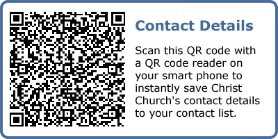 QR code for contact details.