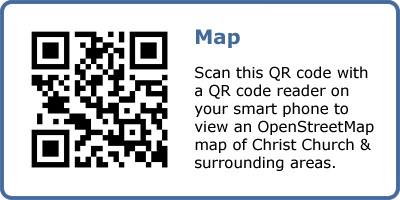 QR code for OpenStreetMap map.