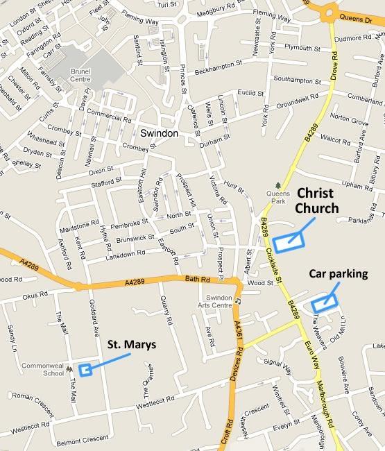 Swindon Bus Map Christ Church Swindon | Churches in Swindon | Swindon Churches